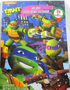 Advent Calendar TMNT Mutant Ninja Turtles Chocolate New Countdown Christmas 2015 ##NinjaTurtles  #AdventCalendar