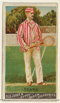 Sears, Lawn Tennis, from the Goodwin Champion series for Old Judge and Gypsy Queen Cigarettes 1888