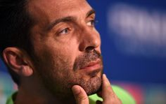 In this handout image provided by UEFA, Gianluigi Buffon of Juventus looks on during a Juventus press conference on the eve of the UEFA Champions League Final match against FC Barcelona at Olympiastadion on June 5, 2015 in Berlin, Germany.