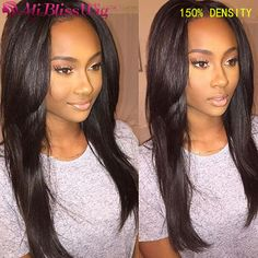 Italian yaki wig affordable full lace wigs virgin hair yaki straight glueless front lace wigs 130% density natural cheap hair#affordable full lace wigs