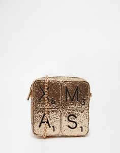 Skinnydip Exclusive XMAS Glitter Cross Body Bag