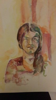 model koven, watercolor by siver serwer