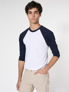 The Raglan Sleeve T-Shirt is a modern version of the traditional baseball raglan. Soft and lightweight in our Poly-Cotton blend. Raglan Shirts, American Apparel, Mens Fashion, Unisex, Sleeves, Mens Tops, T Shirt, Cotton, Style