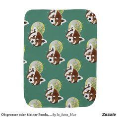Ob grosser oder kleiner Panda, beide sind trollig Spucktuch Beide, Phone Cases, Baby, Red Panda, Infants, Baby Humor, Babies, Infant, Doll
