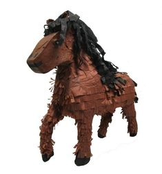 Horse Pinata, Brown, x Horse Theme Birthday Party, Horse Party, Cowgirl Birthday, Boy Birthday Parties, 2nd Birthday, Birthday Ideas, Birthday Cakes, Cowboy Party Games, Cowgirl Party