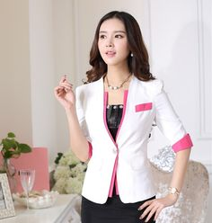 Новинка белый формальные единые дизайн весна лето женские пиджаки топы мода тонкий деловые женские пиджаки рабочая одежда блейзер купить на AliExpress