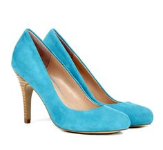 Bermuda Blue Round Toe Pumps.