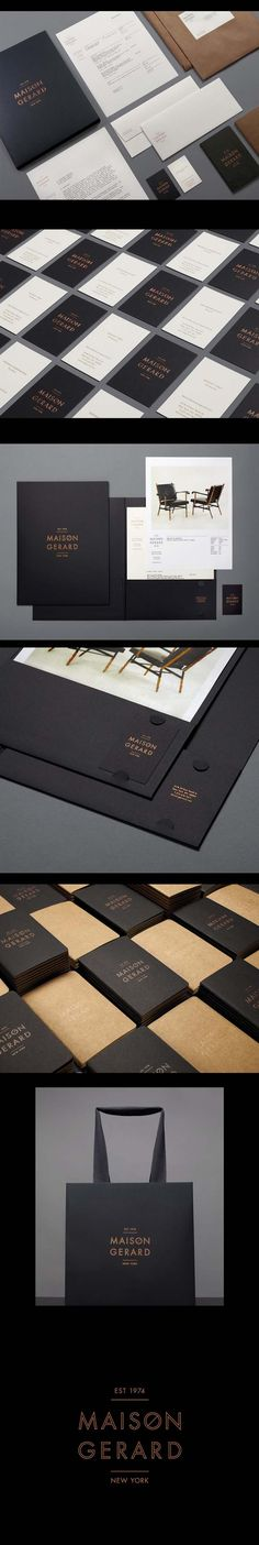 Maison Gerard | stationery suite copper foil Denise on black and craft