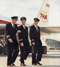 TWA pilots - 1962
