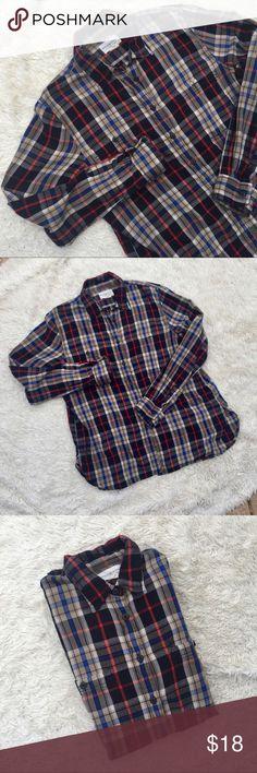 5d47ce233 DENIM & SUPPLY Ralph Lauren Plaid Shirt Navy, blue, red, and tan plaid
