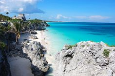 tulum, mexico..the most beautiful beach i have ever seen, the mayan ruins atop the cliffs just adds to the mystery of what this place use to be