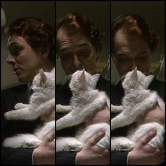 I wonder what could possibly make Rik more adorable.. Oh I dunno MAYBE IF HE HELD A KITTEN!