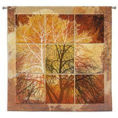 """Features:  -Cotton material.  -Hand finished and inspected.  Product Type: -Tapestry and Wall Hanging.  Subject: -Floral and botanical.  Color: -Multi-colored.  Size: -Oversized (41""""+).  Hand Finished"""