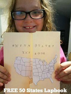 Free 50 States Lapbook Resources and Printables | Slap Dash Mom