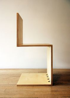 Birch Cantilever Side Chair by A.Weed