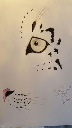 Snow Leopard watercolor painting for sale