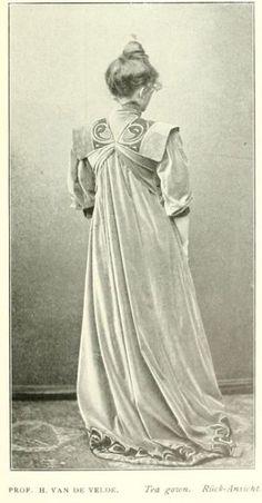 Tea gown, Henry van de Velde. Das neue Kunst-Prinzip in der modernen Frauen-Kleidung. Deutsche Kunst und Dekoration Band 10. 1902.