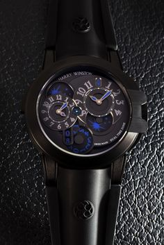 Harry Winston Ocean Dual Time Black Edition by Mike Mellia