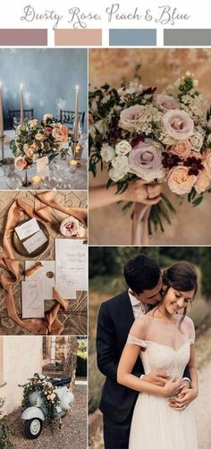 dusty rose peach and blue wedding color ideas for 2019 themes maroon Wedding Trends-Top 10 Wedding Colors Ideas for 2019 - EmmaLovesWeddings Dusty Rose Wedding, Dusty Blue Weddings, Maroon Wedding, Spring Weddings, Wedding Flower Guide, Wedding Flowers, Wedding Scene, Wedding Themes, Wedding Decorations
