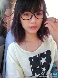 奶茶妹 Wearing Glasses, Eye Glasses, Eyes, Girls, Cute, How To Wear, Beauty, Eyewear, Toddler Girls