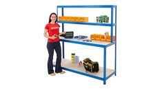 BiGDUG 4 Level Workstation Product Video Workshop Bench, Workshop Storage, Shed Storage, Garage Storage, Storage Ideas, Shelving, Desk, Furniture, Videos