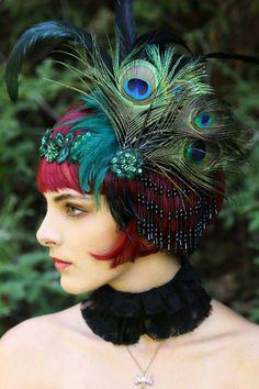 Flapper Wig/ Great Gatsby Wig/ Wig/ Bob by WigsofWonder Flower Headdress, Feather Headband, Flapper Party, Flapper Style, 1920s Wig, Turbans, 1920s Hair Accessories, Great Gatsby Fashion, 20s Fashion