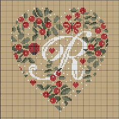 """R"" cross stitch pattern Cross Stitch Letters, Just Cross Stitch, Cross Stitch Heart, Cross Stitch Samplers, Cross Stitching, Cross Stitch Embroidery, Embroidery Alphabet, Cross Stitch Kitchen, Christmas Cross"