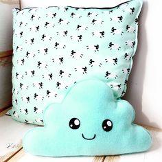 Mintgreen sheep pillow and matching plushie #plushies #kawaii #sheep #mintgreen #pillow #mintgroen #kussen #schapen #kinderkamer #nursery #baby #kids #kidsroom #wonen #interieur #interior #home