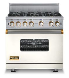 cotton white stove with brass