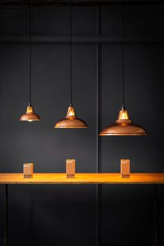 Micro Standard and Supersized Copper Coolicons Lighting, Industrial Pendant Lights, Lighting Uk, Kitchen Pendant Lighting, Home Decor, House Interior, Kitchen Lighting, Interior Design Living Room, Copper Lamps