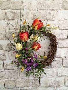 Embellish Your Digital Scrapbook Page Like A Floral Designer   Simply  Tiffany Studios. Spring Door WreathsFront ...