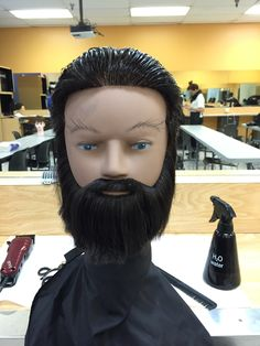 90 degree cut beard and hair