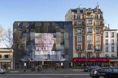 Gallery of Gaumont-Pathé Alésia Cinemas / Manuelle Gautrand Architecture - 14 Cinema Architecture, Sustainable Architecture, Architecture Photo, Paris Buildings, Mix Use Building, Grand Paris, Brest, Paris Hotels, Facade Design
