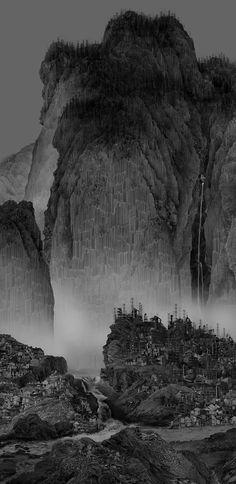 杨泳梁 Yang Yongliang, Travelers Among mountains and Steams, 2014 | Galerie Paris-Beijing