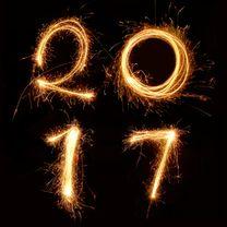 Nieuwjaar -2017 vuurwerk - Nieuwjaarskaarten