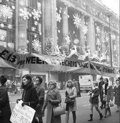 National Union of teachers march on Oxford Street 1969