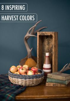 Let the crisp weather and autumnal colors inspire your next home decor project. Bring seasonal accessories like rustic baskets and fresh apples into your table centerpiece to get your house ready for the holidays. We love how welcoming this backdrop color of Observatory Blue looks alongside a cozy flannel tablecloth and farmhouse wood dining table.