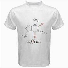 caffeine moleculer tshirt Size S M L XL 2XL 3XL 4XL and 5XL | butikonline83 - Clothing on ArtFire