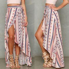 New-Womens-Boho-Tribal-Floral-Skirt-Maxi-Summer-Beach-Long-Casual-Skirt-Dresses