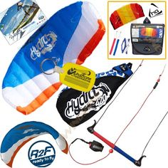 HQ Hydra II 420 V2 Kiteboarding Trainer Kite Bundle : Includes FREE 2ND Kite : Symphony Beach II 1.3M Foil Kite + WindBone Kiteboarding Key Chain : Water Trainer Foil Traction Power Kite - http://worldofkitesurfing.com/kitesurf/equipment-kitesurf/hq-hydra-ii-420-v2-kiteboarding-trainer-kite-bundle-includes-free-2nd-kite-symphony-beach-ii-1-3m-foil-kite-windbone-kiteboarding-key-chain-water-trainer-foil-traction-power-kite/