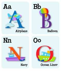 ABC wall decals Alphabet wall decals Illustrated by Decals4MyWalls, $13.95