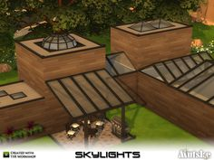 Skylights!!! There are several different types of skylights in this set. Use bb.moveobjects to place the skylights. Also 3 skylights to match the Chesham construstionset. Make sure that your game is fully patched and up to date for this set to show and work correctly in the game. Have fun playing!