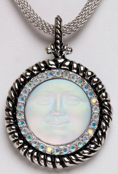 KIRKS FOLLY SEAVIEW MOON SPIRITS NECKLACE  antique silvertone rolled mesh chain #KirksFolly #Chain