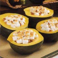 Mallow-Pecan Acorn Squash Recipe