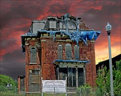 A Detroit abandoned mansion.