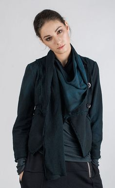 GABRO - Short jersey jacket with a scarf