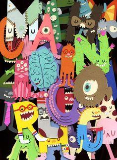 Monster letters ABC: Jared Andrew Schorr, mon nouvel illustrateur préféré