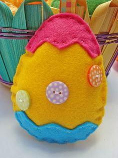 Moldes de pascoa em feltro ovo de pascoa