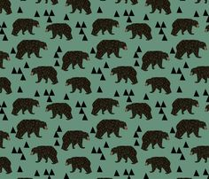 ©  Copyright  Andrea Lauren -  You are permitted to sell items you make with this fabric, but request you credit Andrea Lauren as the designer. Coordinates: Solids -- Warm, Solids - Cool, Dots  View the Entire Bear Collection