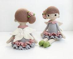 Doll Amigurumi Free Pattern, Crochet Dolls Free Patterns, Crochet Doll Pattern, Amigurumi Doll, Amigurumi Tutorial, Crochet Fairy, Cute Crochet, Crochet Toys, Fairy Dolls